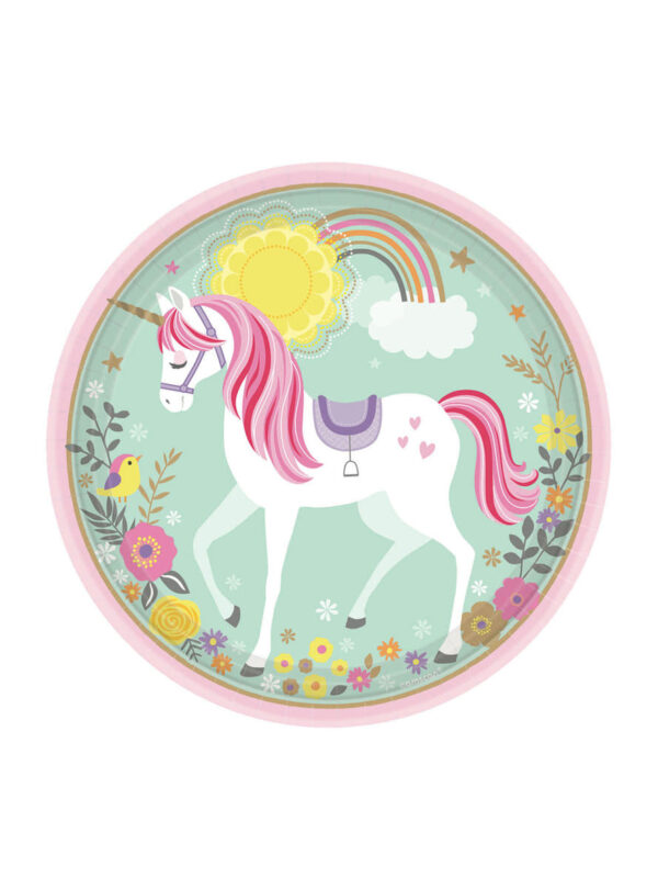 plato unicornio
